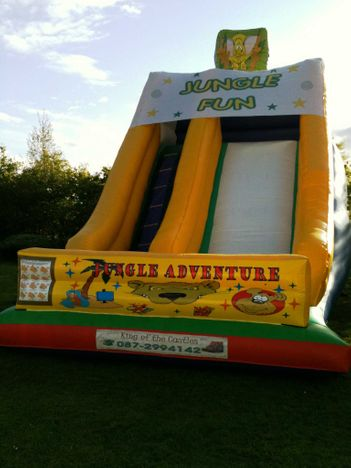 22ft x 15ft x 22ft Jungle Adventure Slide