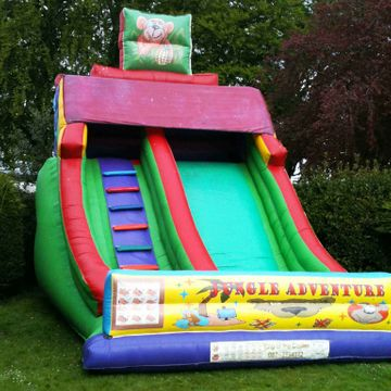 18ft x 15ft x 18ft Jungle Adventure Slide