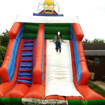 18ft x 15ft x 18ft Homer Simpson Slide