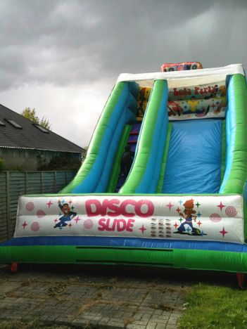 22ft x 15ft x 22ft Let's Party Disco Slide